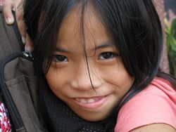 Happy Cambodian Girl