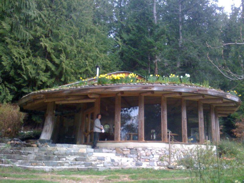 Cob House in Flower