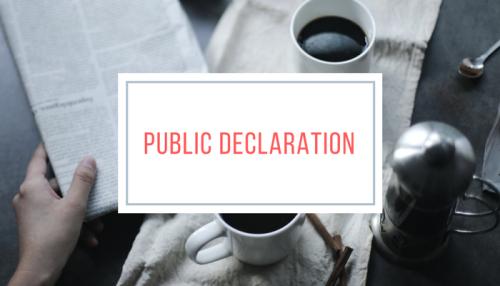 Public Declaration